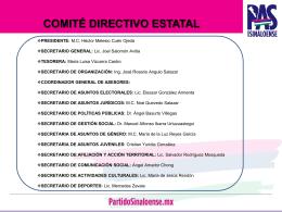 Diapositiva 1 - PAS - Partido Sinaloense