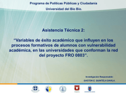 Asistencia Técnica 2  - Programa de Políticas Públicas