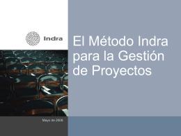 El Método Indra para la Gestión de Proyectos