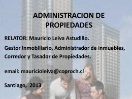 CURSO ADMINISTRACION DE PROPIEDADES
