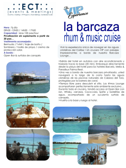 Barcaza Rhum & Music Tour