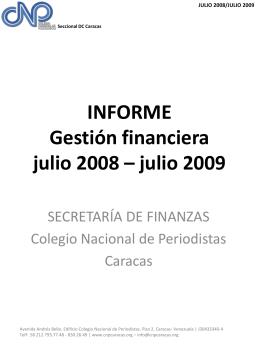 julio 2009 - Colegio Nacional de Periodistas