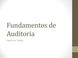 Fundamentos de Audioria - Felipe Olivares Docencia