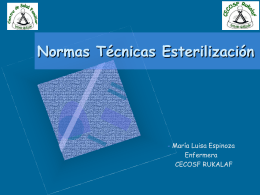 Normas Técnicas Esterilización