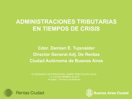 DEMIAN TUJNAIDER - seminario internacional sobre tributario local