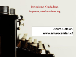 Periodismo Participativo - Las Comunicaciones Online y Offline