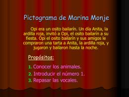 Pictograma de Marina Monje