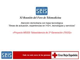 Proyecto MSSSI Teleasistencia de 2ª Generación (TA2G)