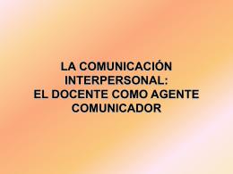Comunicación Interpersonal DOCENTE