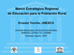 Marco Estratégico Regional de Educación para la Población Rural
