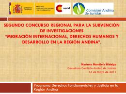 Segundo Concurso Regional para la subvención de investigaciones