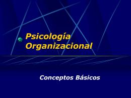 Psicología Organizacional Clase 1