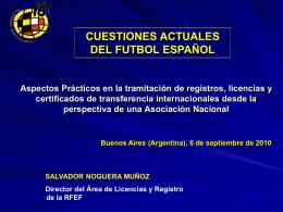 Cuestiones Actuales del Fútbol Español