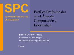 Perfiles Profesionales en el Área de Computación e Informática