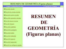 Resumen de Geometría