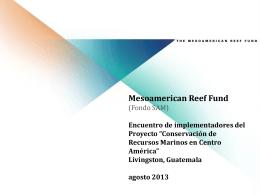 Conservación de Recursos Marinos en Centro América