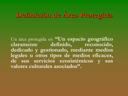Definición de Área Protegida