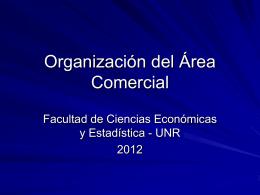 Organización del Área Comercial