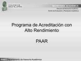 PAAR (Mtro)