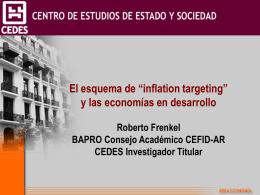 Presentación Roberto Frenkel - CEFID-AR
