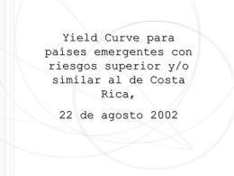 Yield curve agosto - Ministerio de Hacienda