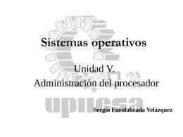 5. Administración del procesador