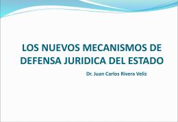 la defensa juridica del estado limites y problemática del sistema los