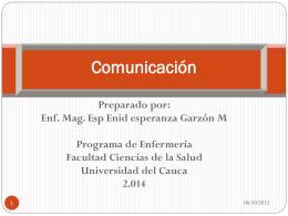 Comunicación INFORMACIÓN - Enfermería vivencia humana y social