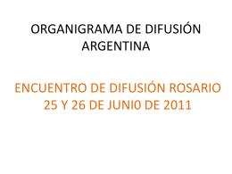 ORGANIGRAMA DE DIFUSIÓN