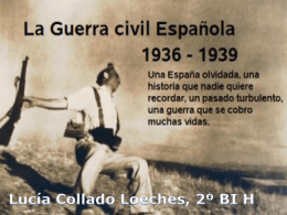 Guerra Civil Española ppt