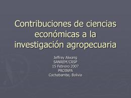 Contribuciones de ciencias economicas en la