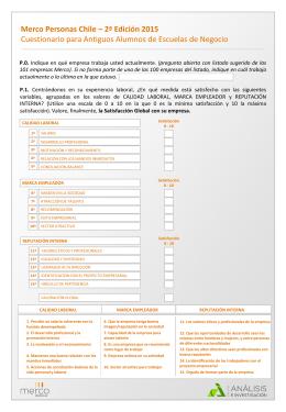 Merco Personas Chile – 2ª Edición 2015
