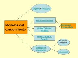 Modelos del Conocimiento y Estructuras Cognoscitivas