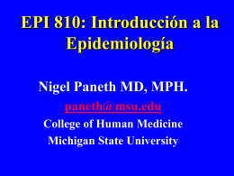 EPI 810: Introduction To Epidemiology