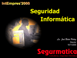 La seguridad informática - Red Cubana de la Ciencia