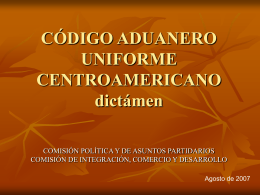codigo aduanero uniforme centroamericano