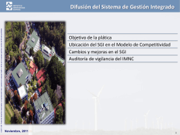 Difusión de cambios al Sistema de Gestión Integrado (SGI)