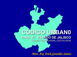código urban0 para el estado de jalisco