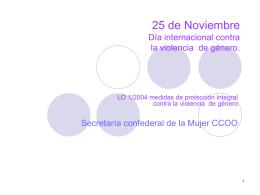 LEY ORGANICA 1/2004 Medidas de protección integral contra la