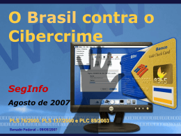 O Brasil contra o Cibercrime