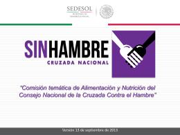 Comisión temática de Alimentación y Nutrición del