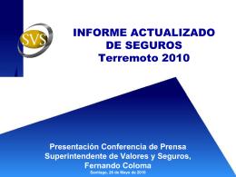Información de viviendas aseguradas en las regiones afectadas por