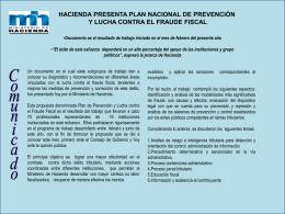 Hacienda presenta Plan Nacional de Prevención y lucha contra el