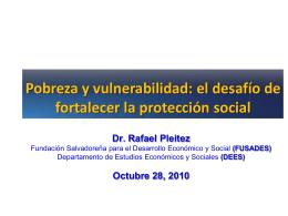 Pobreza y vulnerabilidad: el desafío de fortalecer la