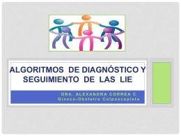 Algorítmo de diagnóstico y seguimiento de las LIE