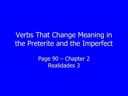 Verbs That Change Meaning in the Preterite and