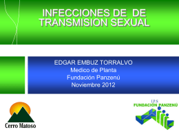INFECCIONES DE TRANSMISION SEXUAL 2012