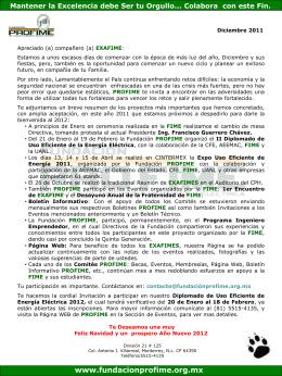 Información de Diciembre 2011 - Fundacion Pro-FIME