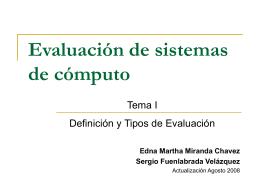 1. Definición de evaluación