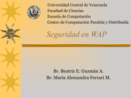 WAP - Universidad Central de Venezuela